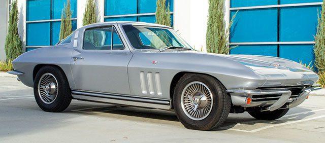 1965 silver l79 corvette coupe side
