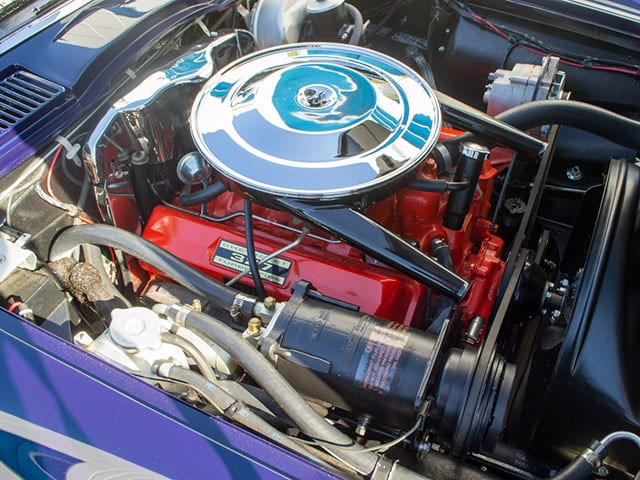 1963 blue corvette split window coupe engine