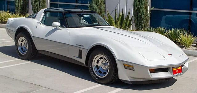 1982 white silver exterior
