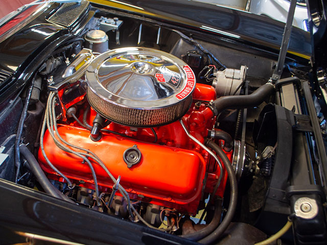 1966 black corvette l36 convertible engine_1