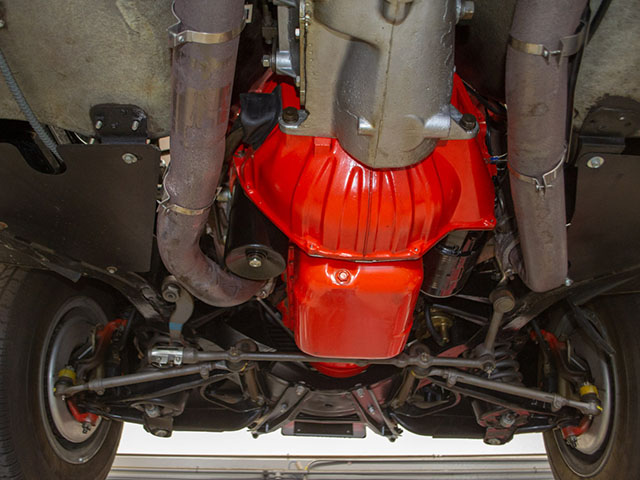 1965 red 396 corvette convertible undercarriage