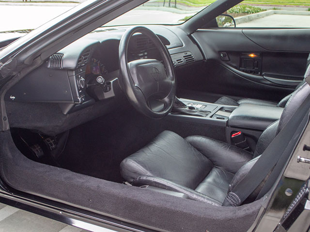 1995 black corvette coupe interior
