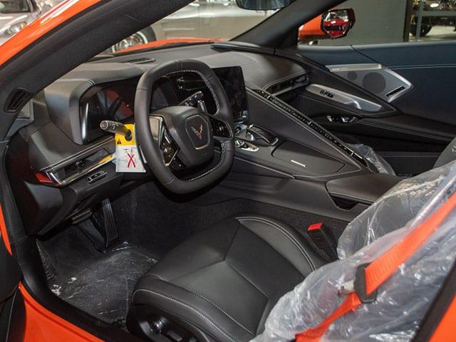 2020 Sebring Orange Z51 Corvette Interior