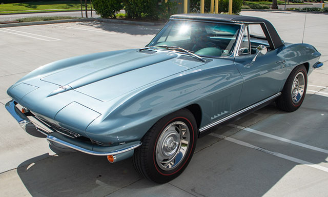 1967 elkhart blue l79 corvette convertible coming