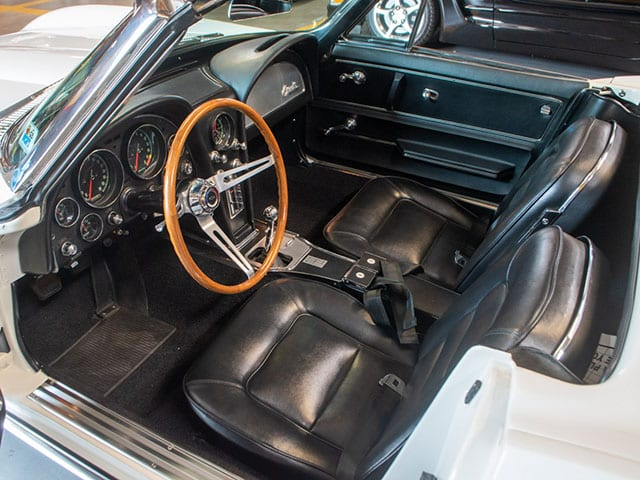 1965 Ermine White Corvette Fuel Injected Convertible Interior