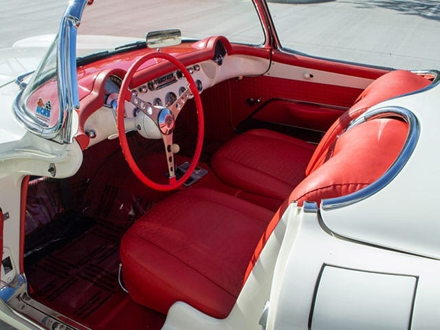 1957 White Corvette Fuel Injected Interior 1