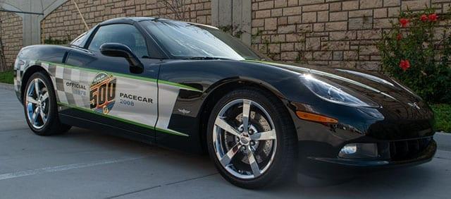 2008 black corvette indianapolis 500 pace car coupe exterior 1