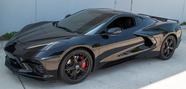 2021 black black c8 coupe 3lt z51 front lift mag ride coming 1