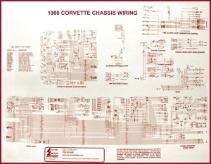 1980 Corvette Diagram, electrical wiring: CorvetteParts
