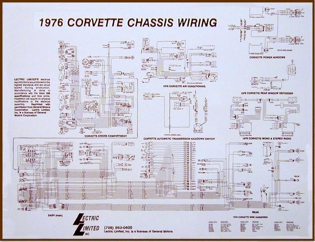 1976 Corvette Diagram Electrical Wiring Davies Corvette Parts