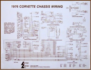 1976 Corvette Diagram, electrical wiring: CorvetteParts