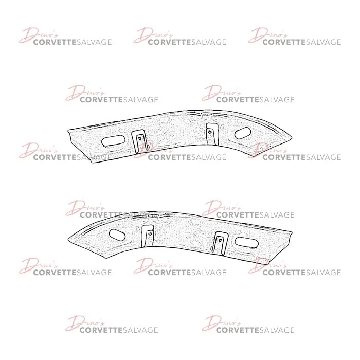 C5 Used Front Bumper Cover Outer Reinforcement Bracket