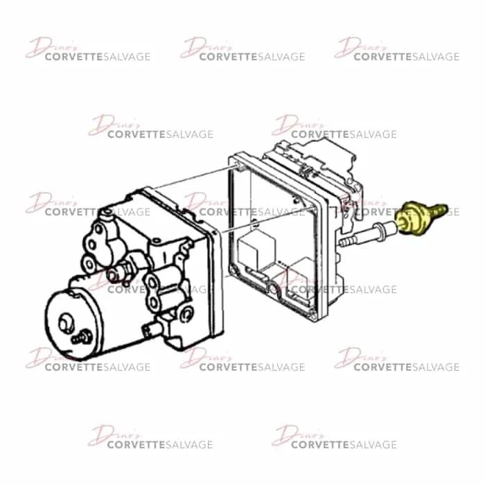 C5 Used Brake Pressure Modulator Valve Insulator 1997-2004