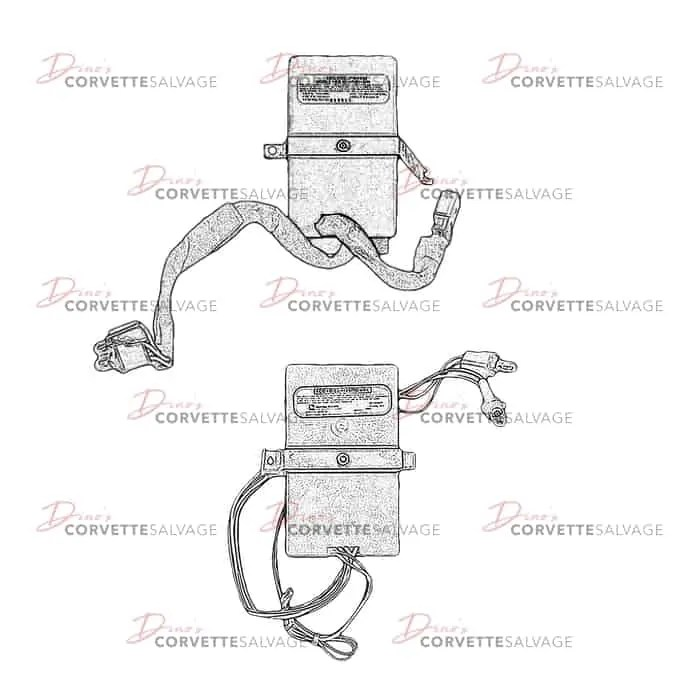 C4 Used Low Tire Pressure Warning System Module 1989-1996