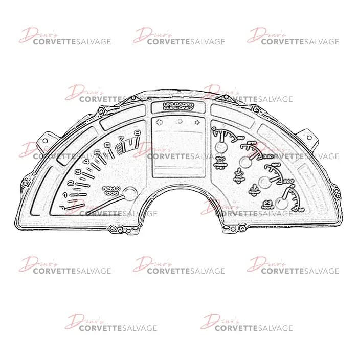 C4 Used ZR-1, LT4 Instrument Cluster Assembly 1990-1996
