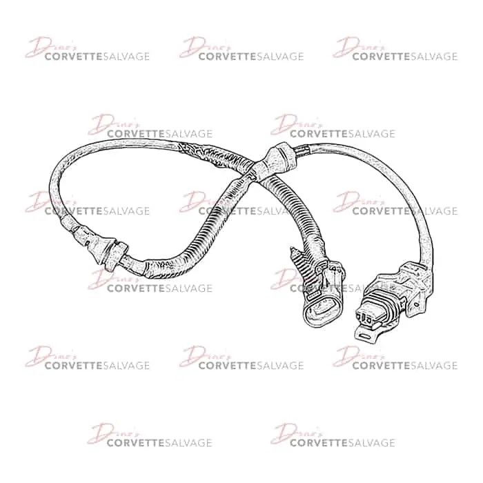 C5 Used ABS Wheel Speed Sensor Wire Harness 1997-2004