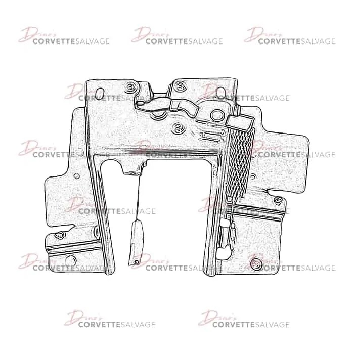 C6 Used Convertible Rear Trunk Lid Latch 2005-2013