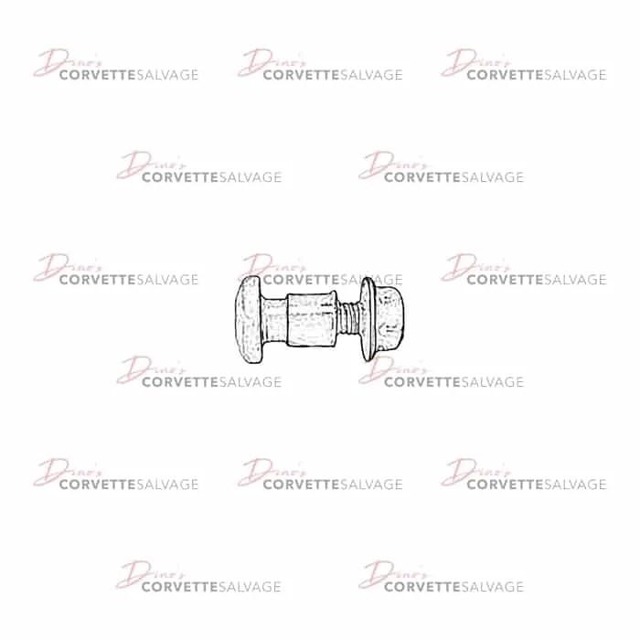 C5 Used Headlight Hinge Bolt, Bushing & Nut 1997-2004