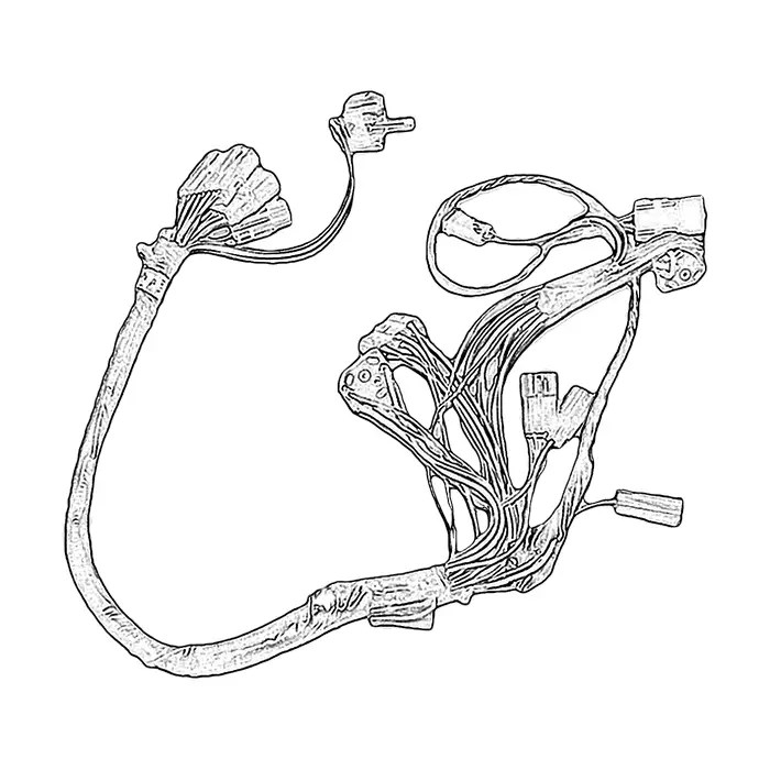 C4 Used Front Floor Console Wire Harness 1987-1989