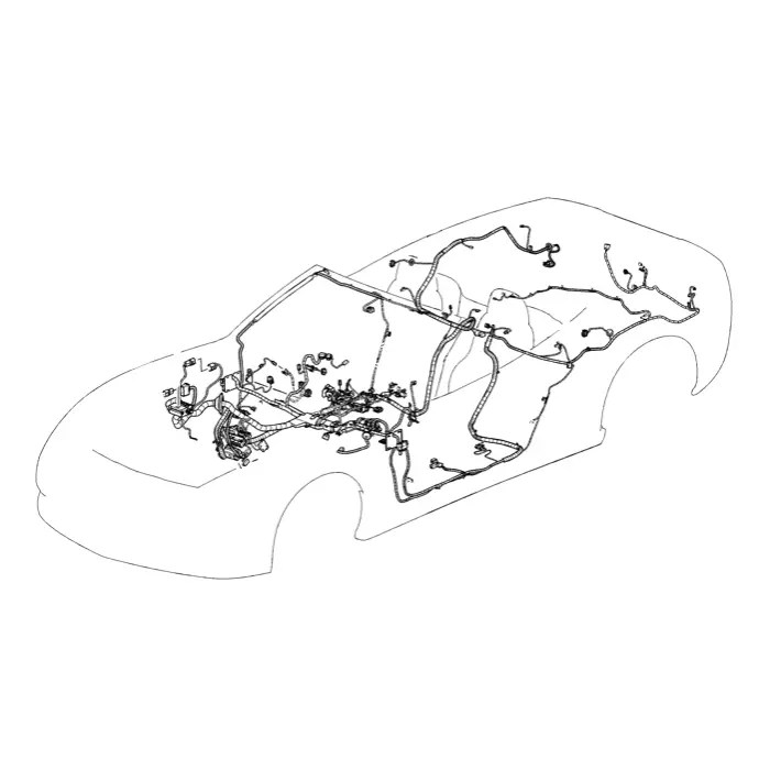 C6 Used Z06 Instrument Panel Wiring Harness 2006-2007
