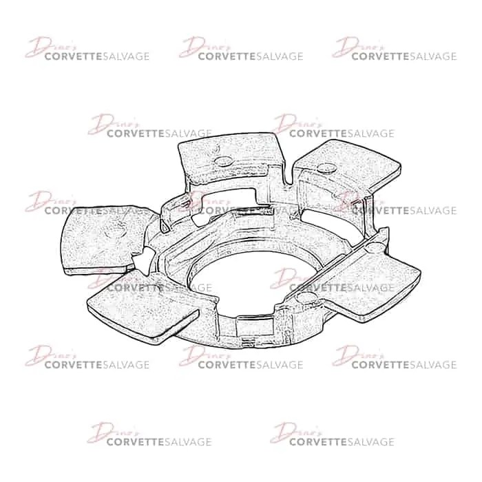 C3-C4 New Horn Contact Carrier Retainer 1969-1989