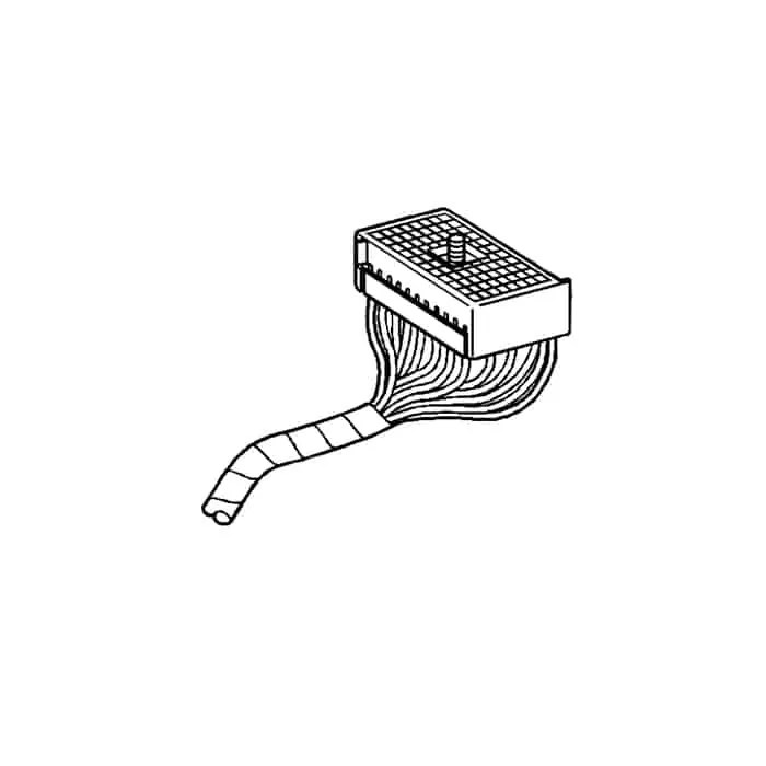 C5 Used Gray Underhood Fuse Block Wire Harness 1997-1998