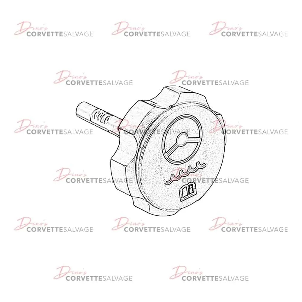 C5-C6 Used Power Steering Fluid Reservoir Cap 1997-2013