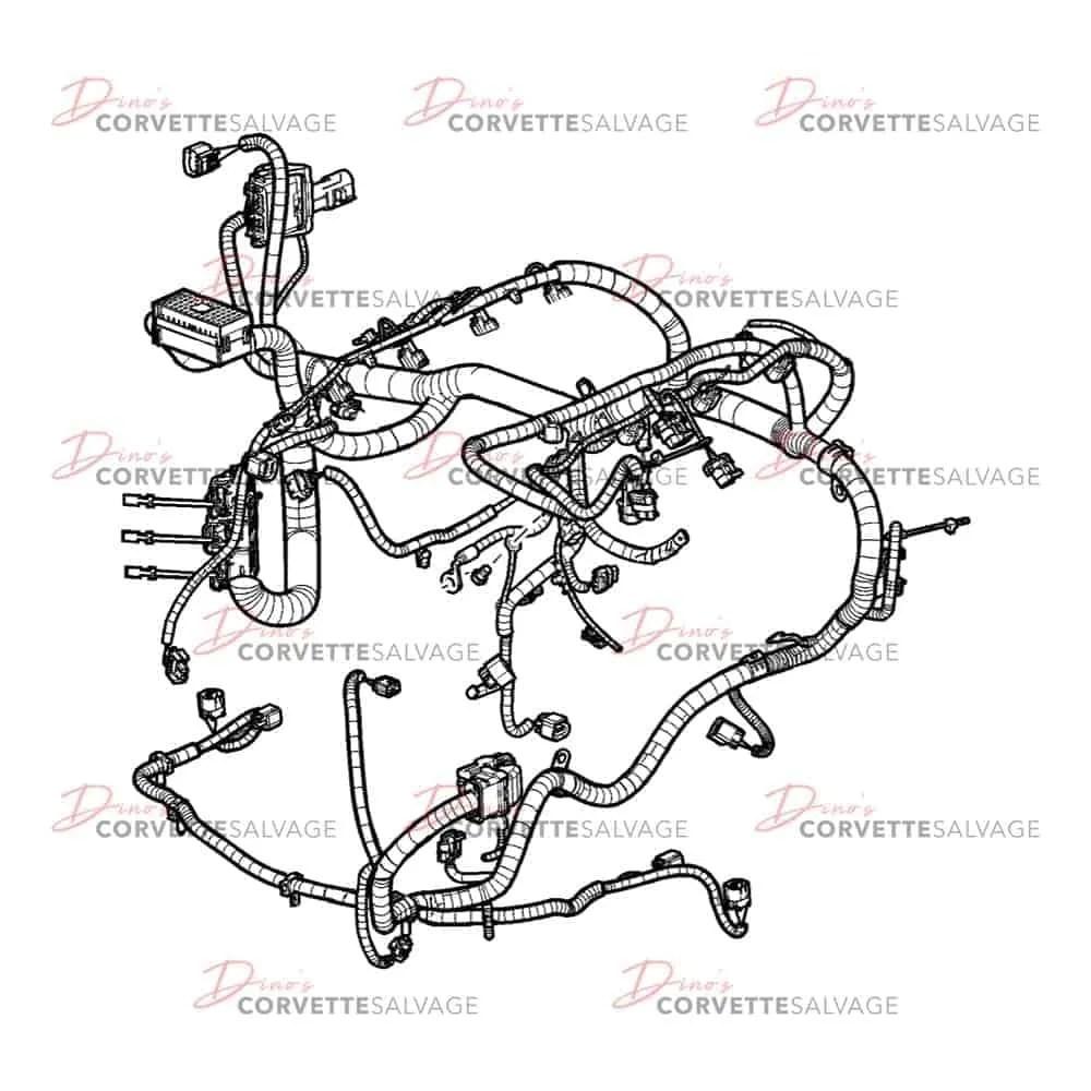 C6 Used Manual Transmission Engine Wiring Harness w/o F55