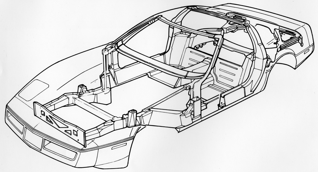 1984 Corvette C4: Front Grill Revised, Chassis Engineering