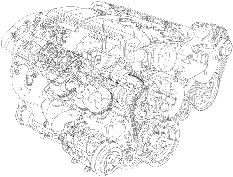Corvette C6 Z06 LS7 Engine Parts Detail Photographs