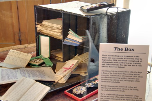 The original box containing Arthur's diaries and papers.