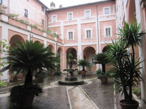 The inner court or cloister of the Franciscan convent.