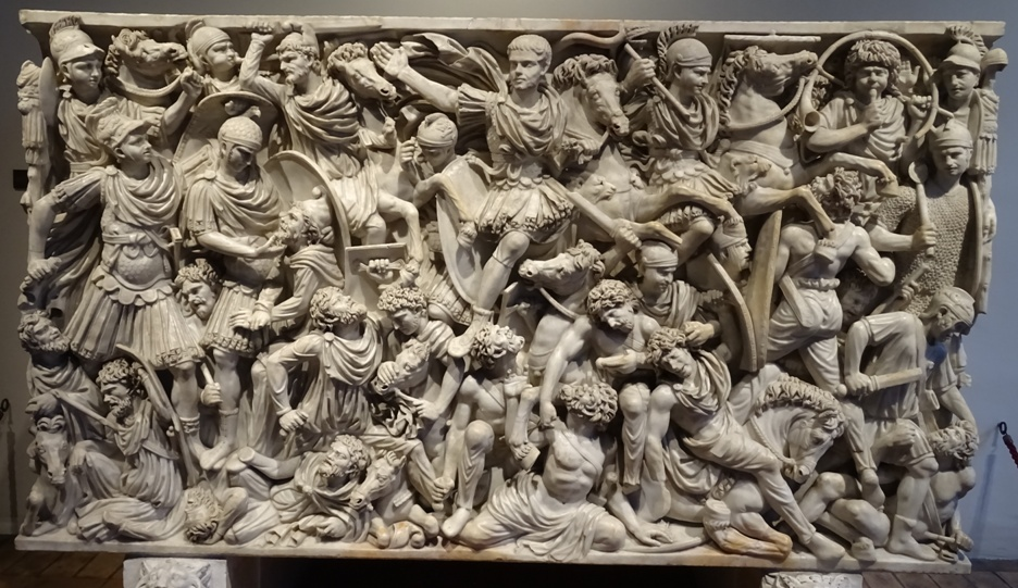 Grand Ludovisi Sarcaphagus; Romans defeating 'barbarian' tribes (Museo Nazionale Romano, Rome).