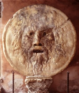 The Bocca della Verità. I took this picture in 1996 with my analogue camera.