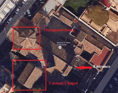 The Santa Pudenziana seen from above (photo: copyright Google).