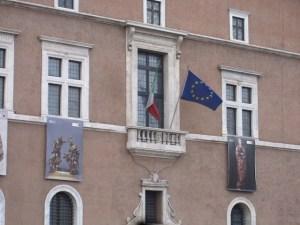 Mussolini's balcony.