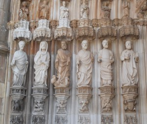 Statues of the Apostles near the main entrance.