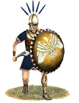 Samnite warrior. Rome fought three wars against the Samnites before they were defeated and became allies.