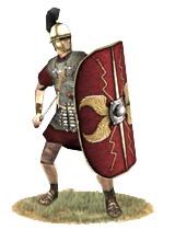 Roman legionary, 1st century BCE (source: Europa Barbarorum).