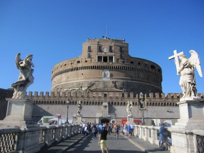 Castel Sant'Angelo, seen from the Ponte Sant'Angelo.