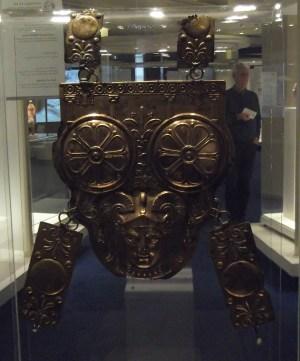 Punic cuirass, made of bronze (reverse side; Bardo Museum).