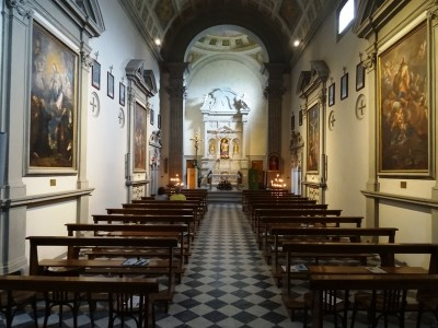 Interior of the church.