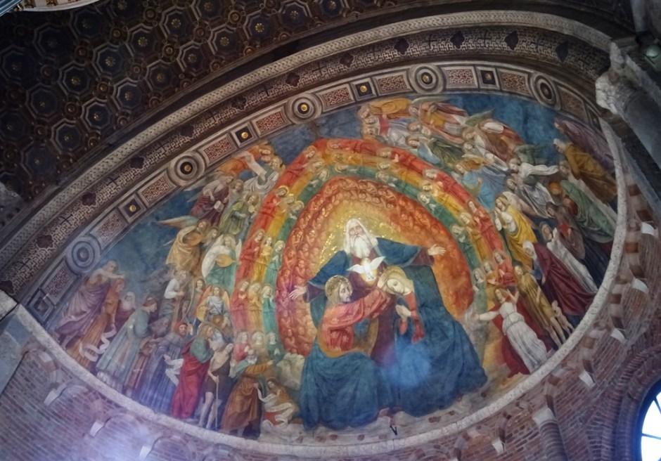 Fresco by Bergognone.
