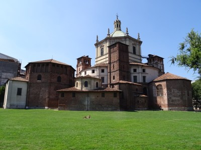 The San Lorenzo, seen from the Parco delle Basiliche.