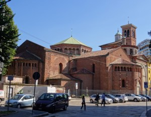 The San Nazaro in Brolo, seen from the rear.