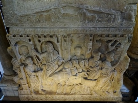 Right side of the sarcophagus.