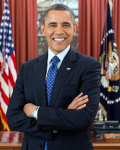 Barack Obama, de huidige president van de Verenigde Staten (Official White House Photo by Pete Souza).