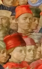 Benozzo Gozzoli (above) and Lorenzo de' Medici (below left).