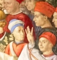 Benozzo Gozzoli (left), Sassetti (top right) and Capponi (bottom right).