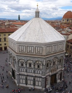 The Baptistery, seen from Giotto's campanile.